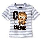 Star Wars™ Toddler Boys' T-Shirt - White Heather Stripe 2T