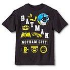 Batman Gotham City Boys' Graphic Tee - Black