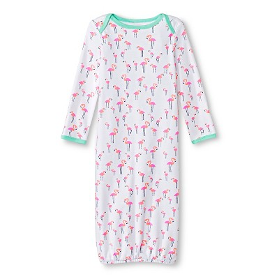 Oh Joy!® Newborn Nightgown - Flamingo 0-3M