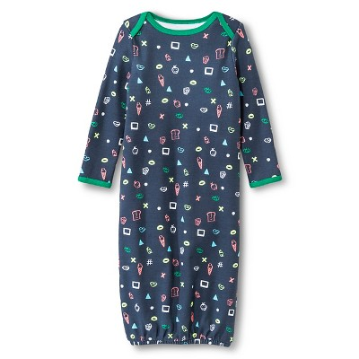 Oh Joy!® Newborn Nightgown - Favorite Things Green/Grey 0-3M
