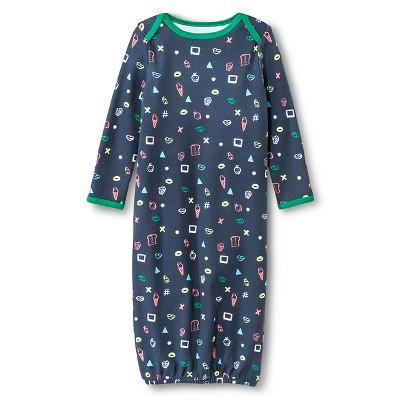 Oh Joy!® Newborn Nightgown - Favorite Things Green/Grey 3-6M