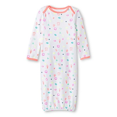 Oh Joy!® Newborn Nightgown - Favorite Things Peach/White 0-3M