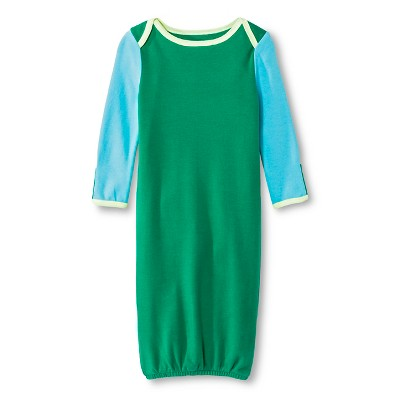 Oh Joy!® Newborn Nightgown - Blue/Green Colorblock 3-6M