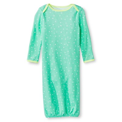 Oh Joy!® Newborn Nightgown - Mint Dots 0-3M