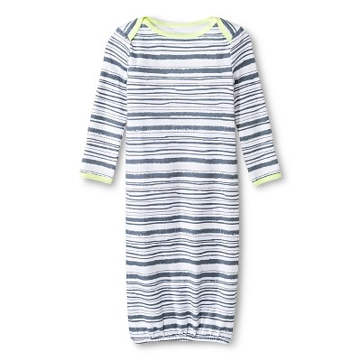 Oh Joy!® Newborn Nightgown - Grey Stripes 0-3M