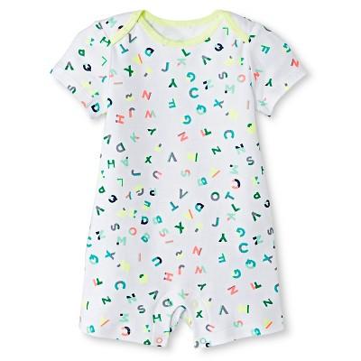 Oh Joy!® Newborn Short Sleeve Romper - ABC 0-3M