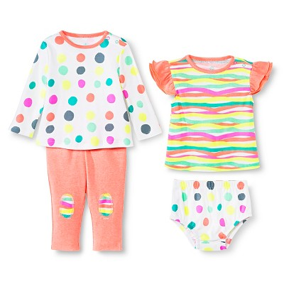 Oh Joy!® 4 Piece Set - Dotty/Multi Stripes 6-9M