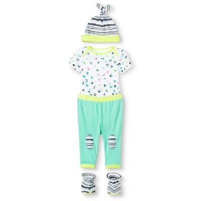 Oh Joy!® Newborn Gift Box Bundle - ABC/Stripes 0-3M