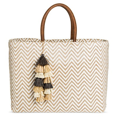 Women's Chevron Structured Tote White - Merona™
