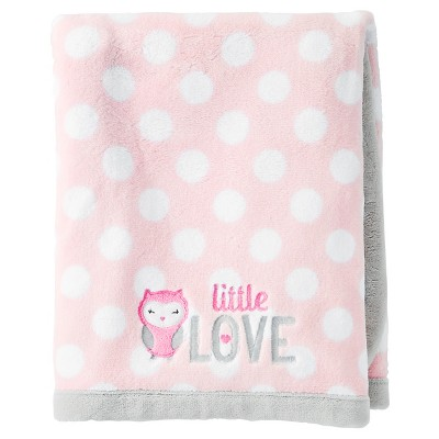 Just One You™ Made by Carter's® Girls' Fluffy Fleece Blanket - Pink Polka Dot