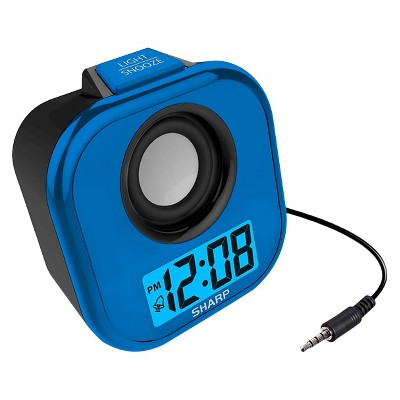 Sharp LCD Alarm Clock with Built-in Line Cord