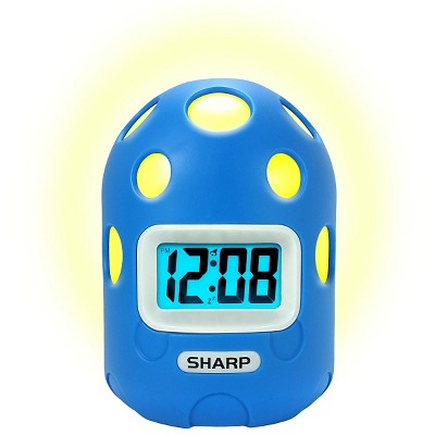 Sharp LCD Color Changing Alarm Clock with Textured Case
