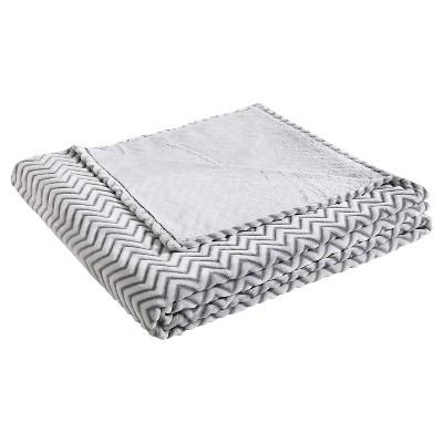 VCNY Chevron Two Tone Blanket - Gray (Full/Queen)
