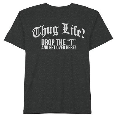 Hybrid Boys' Thug Life? Tee - Black M