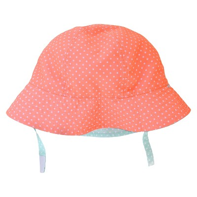 Baby Girls' Polka Dots Print Reversible Floppy Sun Hat Blue/Pink 12-18M - Circo™