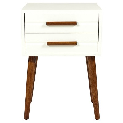 Room Essentials 2 Drawer Accent Table White