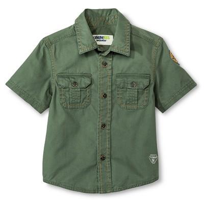 Toddler Boys' Short Sleeve Button Down Shirt - Itasca Green 2T - Genuine Kids™ from OshKosh®