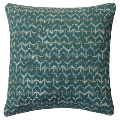 Throw Pillow Teal Arrow Stitch Room Essentials
