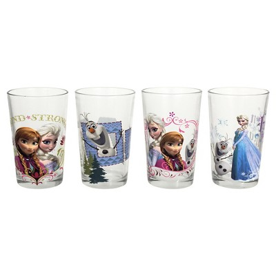 Frozen Assorted Juice Glasses - Set of 4