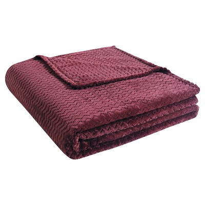VCNY Knitted Chevron Blanket - Chocolate (Full/Queen)