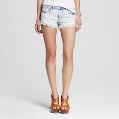 Women's Low Rise Short with Lace Light Wash - Dollhouse (Juniors')