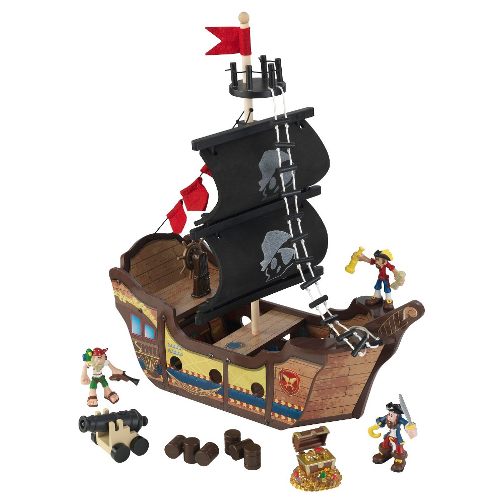 KidKraft Pirate Ship Play Set, Multi-Colored