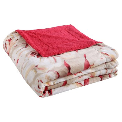 VCNY Serephina Plush Down Alt Blanket - Coral (Full/Queen)