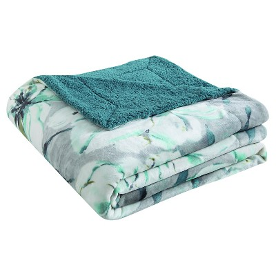 VCNY Serephina Plush Down Alt Blanket - Teal (Full/Queen)