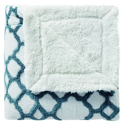 Chantal Jacquard Throw - Teal - 50x70