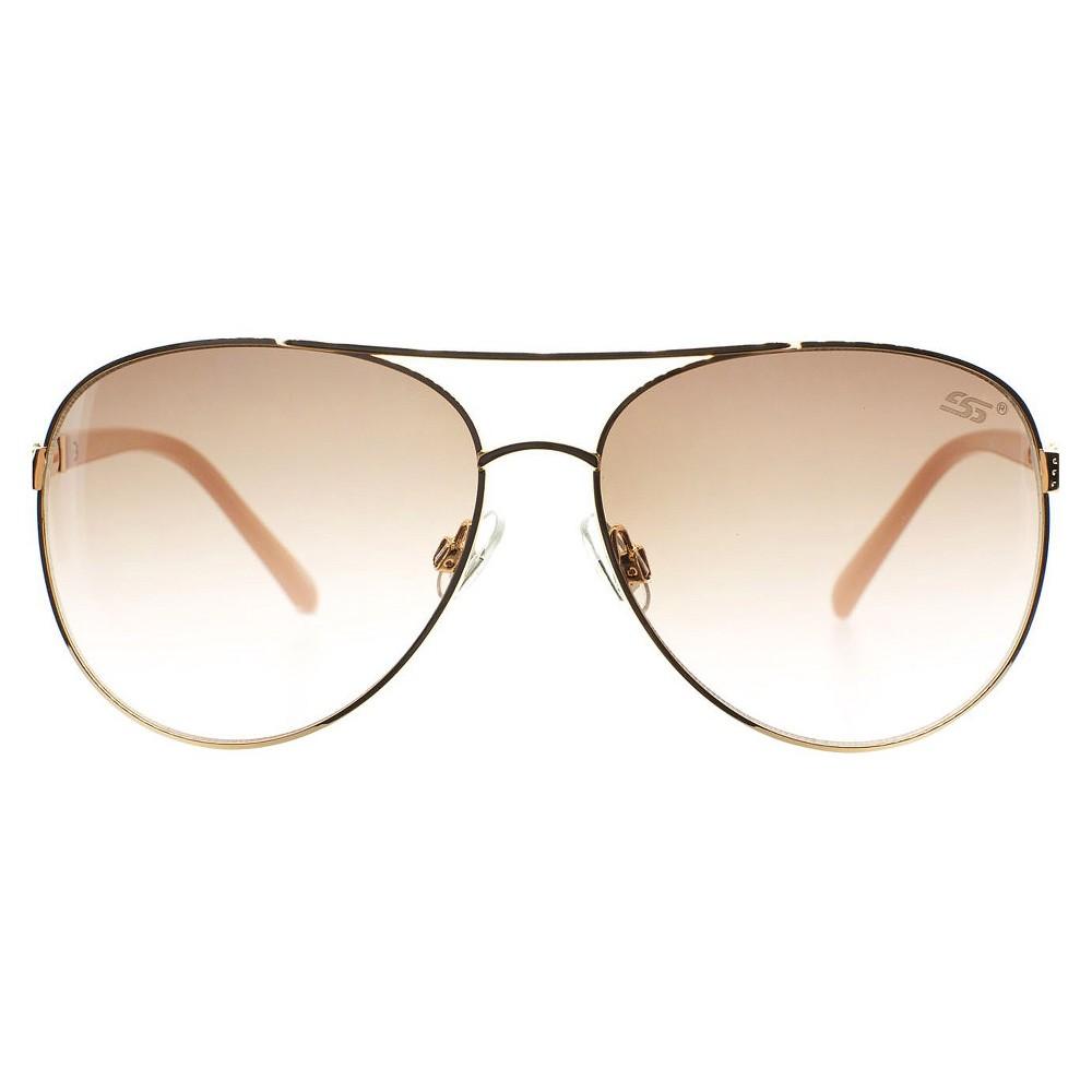 Women's Sylvia Alexander Aviator with Nude Tempo Sunglasses - Nude