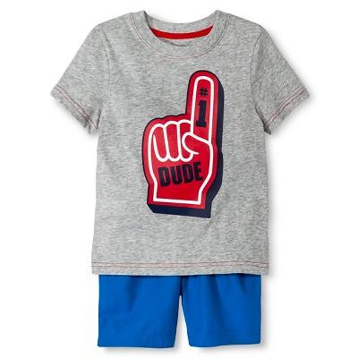 Baby Boys' T-Shirt and Short Set - Heather Grey & Blue 18M - Circo™