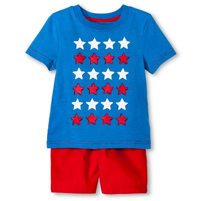 Baby Boys' T-Shirt and Short Set - Electric Blue & Red 18M - Circo™