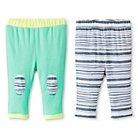 Oh Joy!® Newborn 2 Pack Pant Set - Grey Stripes 0-3M