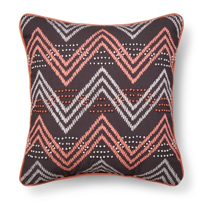 Chevron Decorative Pillow Gray&Pink - Xhilaration™