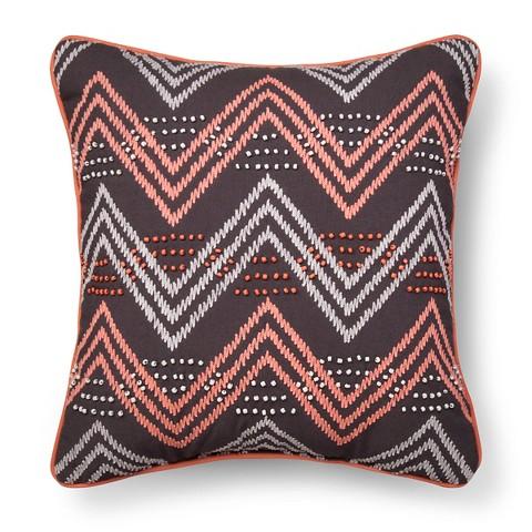 Chevron Decorative Pillow Gray?nk - Xhilaration : Target