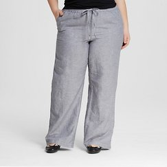 Women's Plus Size Casual Linen Pant - Merona™