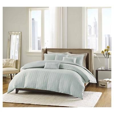 Cybil 6 Piece Comforter Set- Seafoam  (King)