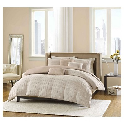 Cybil 6 Piece Comforter Set- Khaki (Full/Queen)