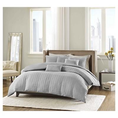 Cybil 6 Piece Comforter Set- Grey (Full/Queen)