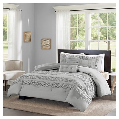 Jordan 6 Piece Comforter Set- Grey (Full/Queen)