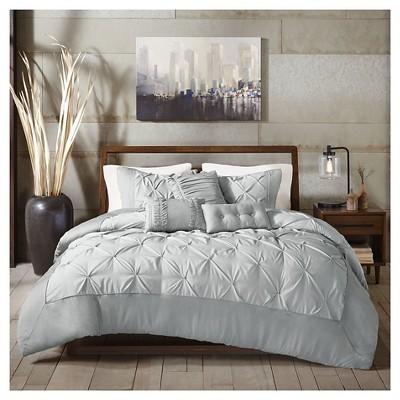 Sunny 6 Piece Comforter Set- Grey (King)