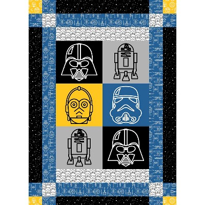 """Star Wars Character Quilt Kit, Multi-colored, 100% Cotton, 2 Panels, 43/44"""" Width"""