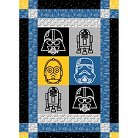 "Star Wars Character Quilt Kit, Multi-colored, 100% Cotton, 2 Panels, 43/44"" Width"