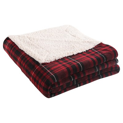 VCNY Durham Plaid Printed Sherpa Reversible Blanket - Multi-colored (King)