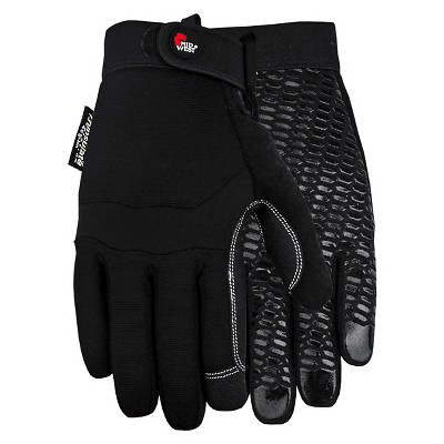 Synthetic Palm with Silicone Pattern 40g. Thinsulate Insulation Gloves - Black  XL