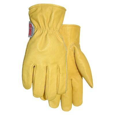 Thermalock Lined Smooth Grain Leather Glove In Light Tan - Size XL