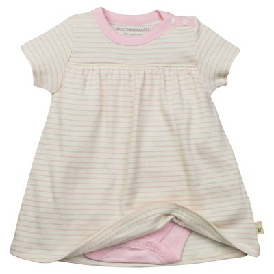 Newborn Girls' Burt's Bees Baby™ Dress - Pink 6-9M