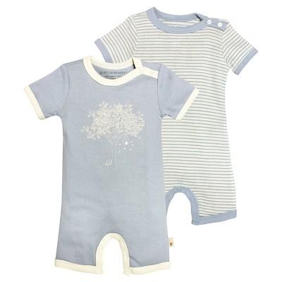 Newborn Boys' Burt's Bees Baby™ 2 Pack Shortall - Blue 12M