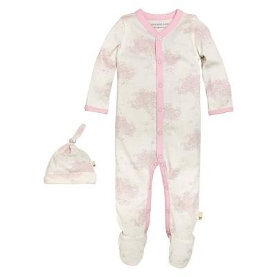 Newborn Girls' Burt's Bees Baby™ Coveral & Hat - Pink 3-6M