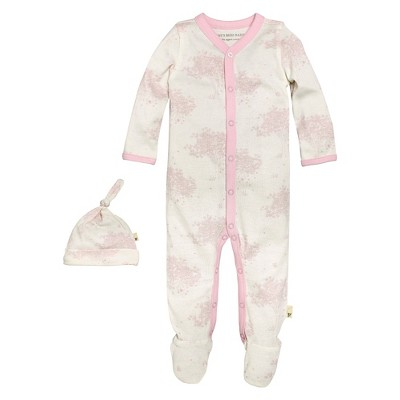 Newborn Girls' Burt's Bees Baby™ Coveral & Hat - Pink 6-9M